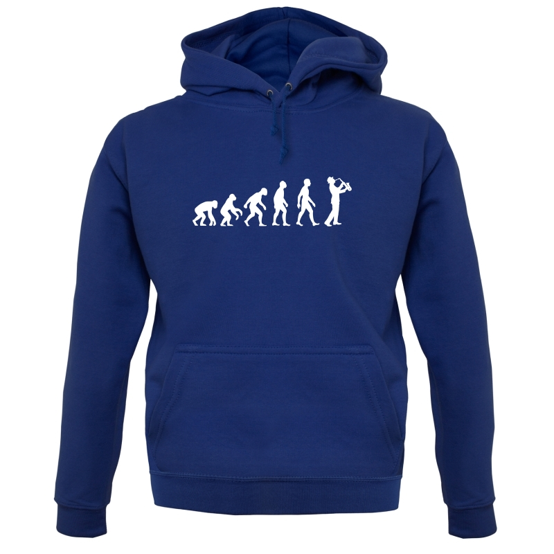 Evolution Of Man Saxophone Hoodies