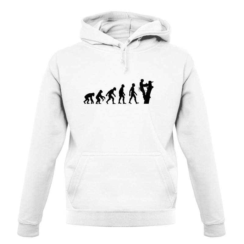 Evolution Of Man Tree Surgeon Hoodies