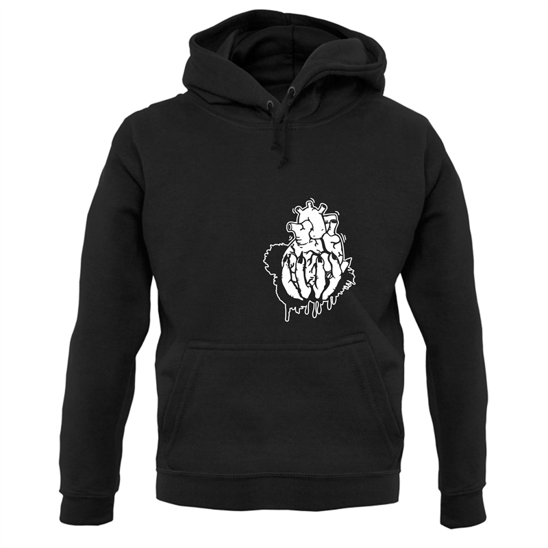 Hand Heart Burst Top Hoodies