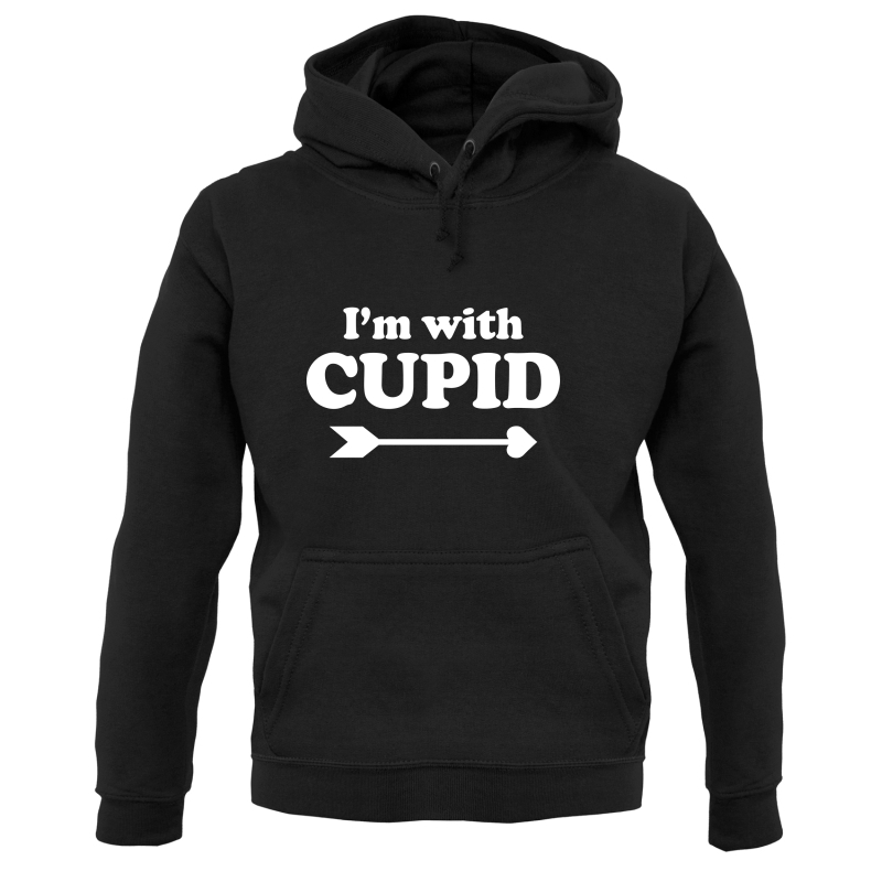 I'm With Cupid Hoodies