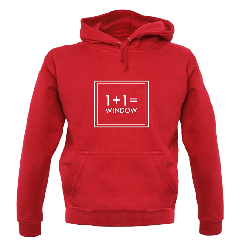 One Plus One Equals Window Hoodies