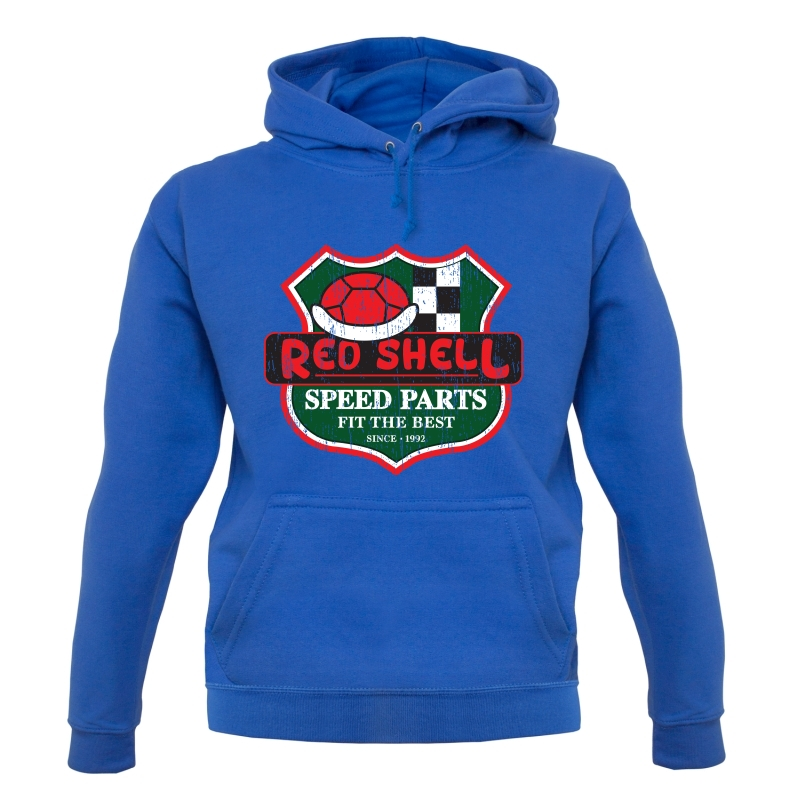 Red Shell Parts Hoodies