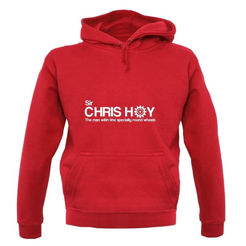 Sir Chris Hoy The Man With The Specially Round Wheels Hoodies