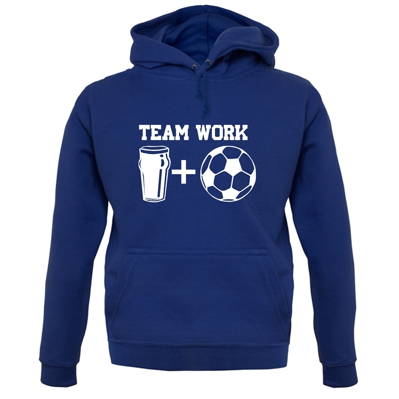 Teamwork, beer and football Hoodies