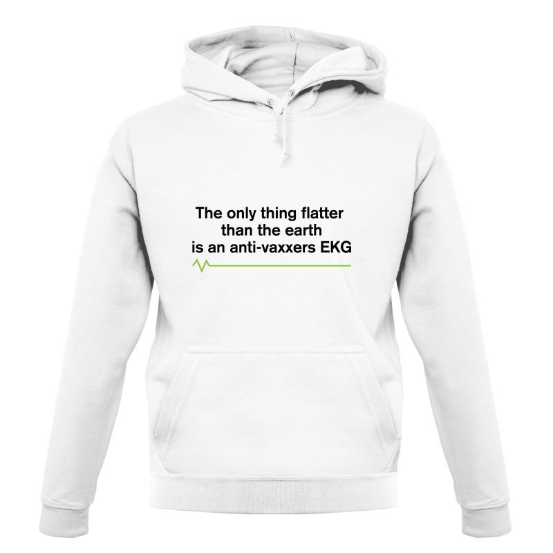The Only Thing Flatter Than The Earth Hoodies
