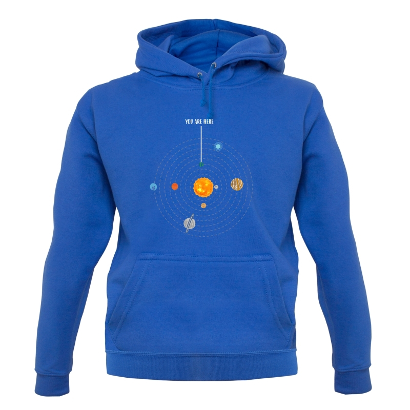 You are Here (Solar System) Hoodies