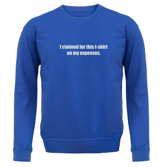 I Claimed For This T-Shirt On My Expenses Jumpers