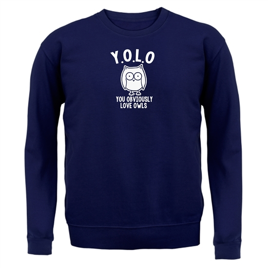 Y.O.L.O You Obviously Love Owls Jumpers