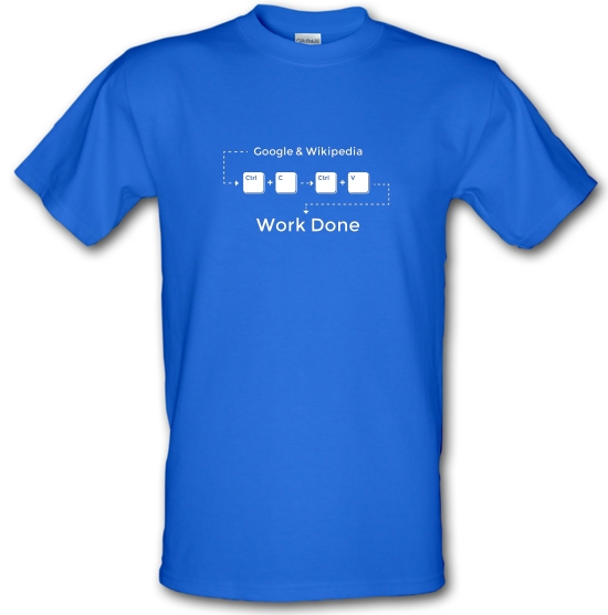 Ctrl C And Ctrl V Equals Work Done T-Shirts for Kids