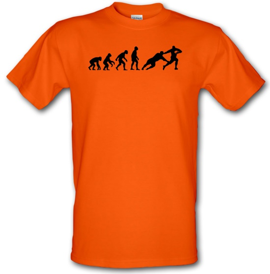 Evolution of Man Rugby T-Shirts for Kids