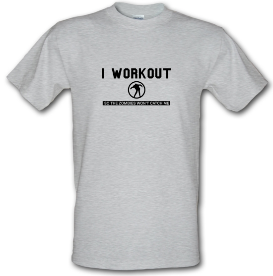I Workout so the Zombies won't catch Me T-Shirts for Kids