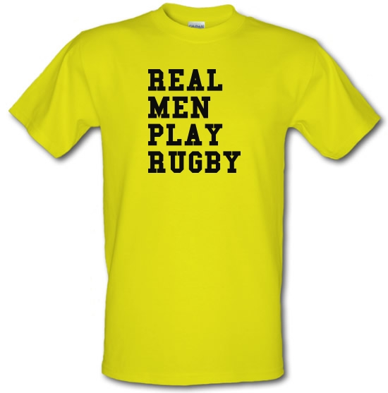 Real Men Play Rugby T-Shirts for Kids