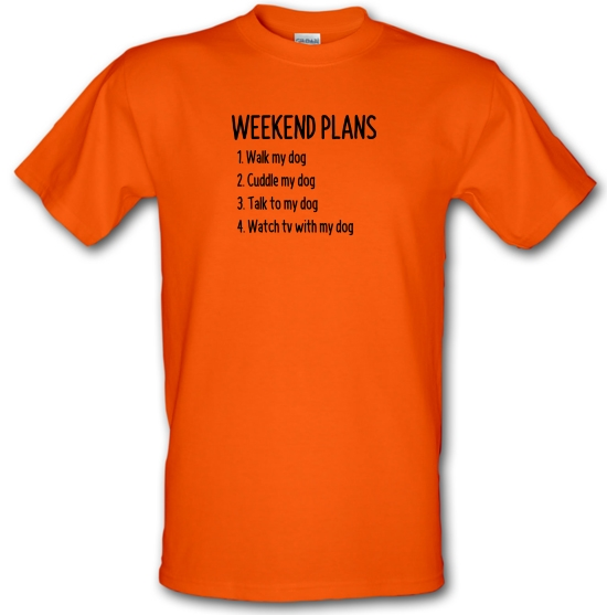 Weekend Plans With My Dog T-Shirts for Kids