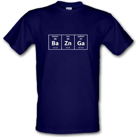 Baznga Periodic Table t-shirts