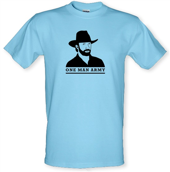 Chuck Norris One Man Army t-shirts