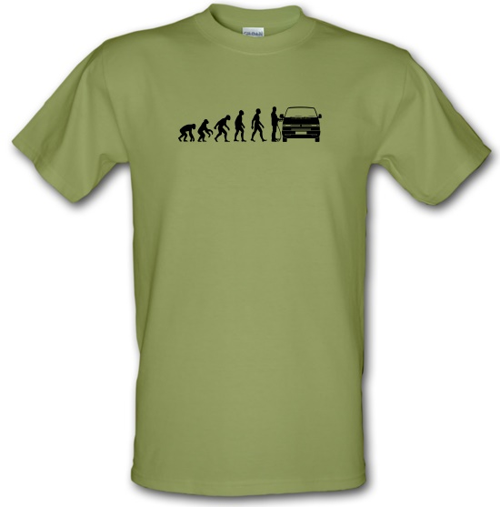 Evolution of Man T4 Campervan t-shirts