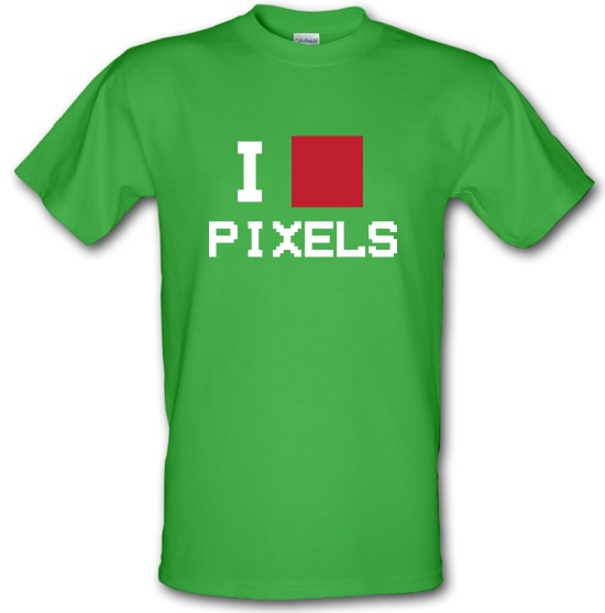 I Love Pixels t-shirts