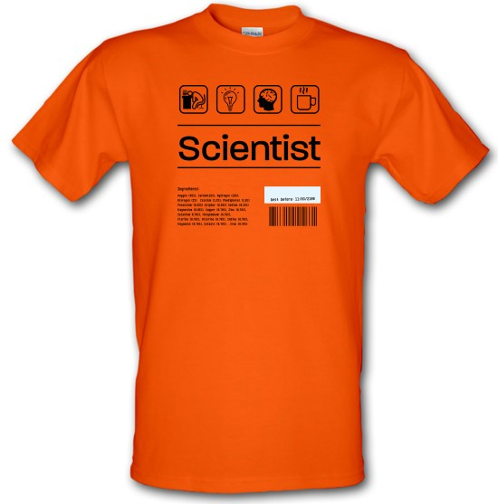 Scientist Ingredients t-shirts