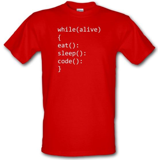 Eat, Sleep, Code t-shirts