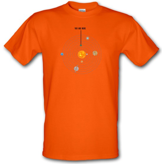 You are Here (Solar System) t-shirts