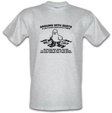Arguing With Idiots Is Like Playing Chess With A Pidgeon t shirt