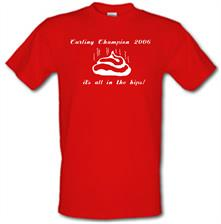 Curling champion 2006, it's all in the hips! t shirt