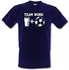 Teamwork, beer and football t shirt