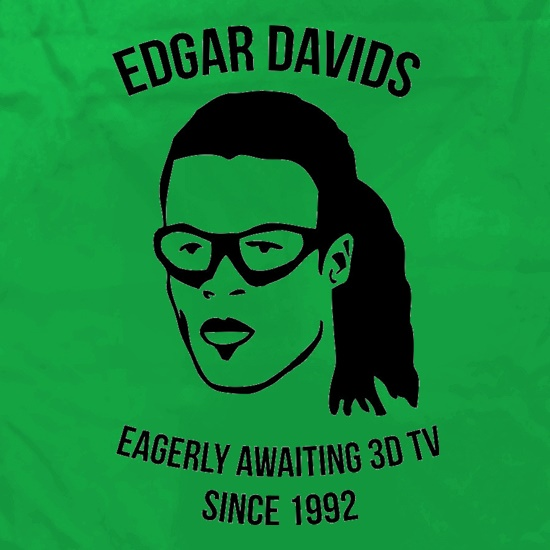 Edgar Davids: Eagerly Awaiting 3D TV Since 1992 Apron