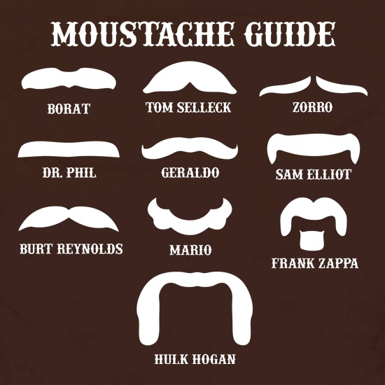 Moustache Guide Apron