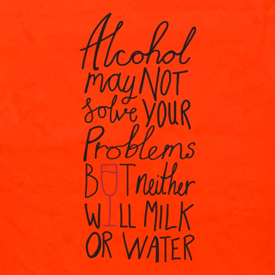 Alcohol May Not Solve Your Problems, But Neither Will Milk And Water Apron