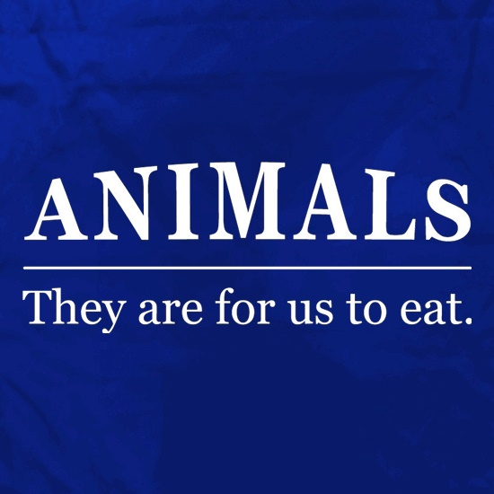 Animals They Are For Us To Eat Apron