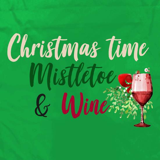 Christmas Time, Mistletoe & Wine Apron