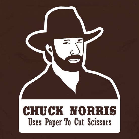 Chuck Norris Uses Paper To Cut Scissors Apron