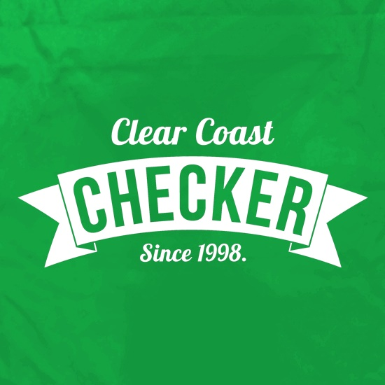 Clear Coast Checker Apron