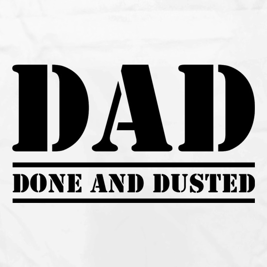 DAD- Done and Dusted Apron