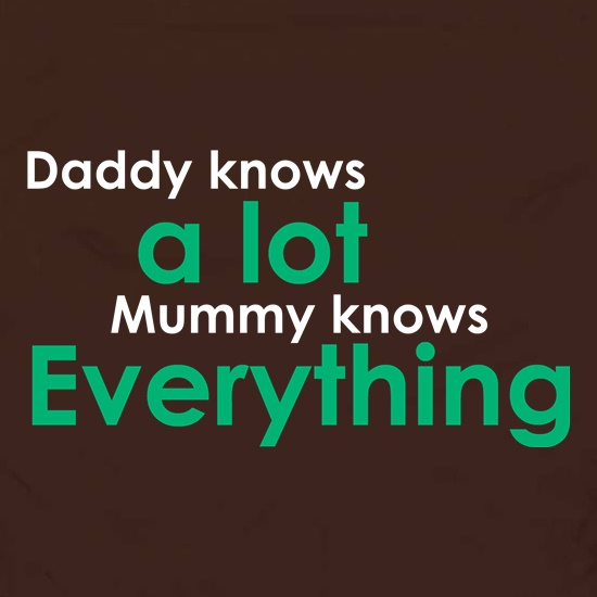 Daddy Knows A Lot But Mummy Knows Everything Apron