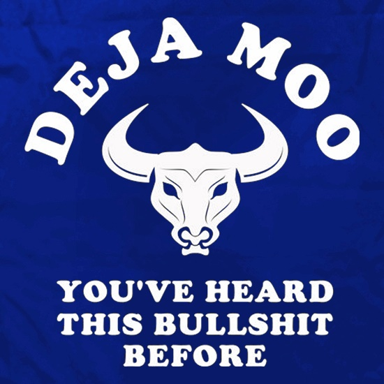 Deja Moo You've Heard This Bullshit Before Apron