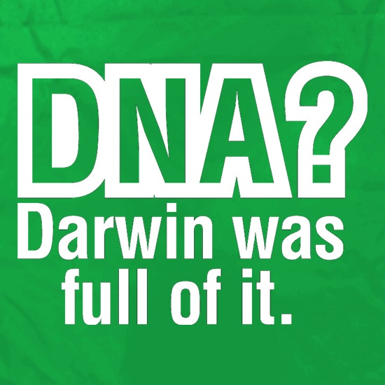 DNA Darwin Was Full Of It Apron