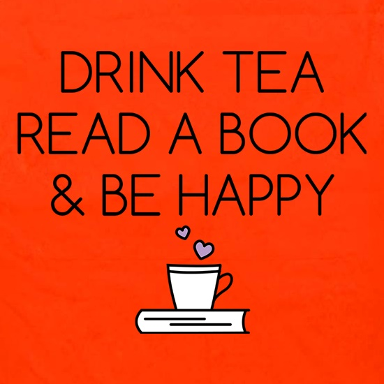Drink Tea, Read a Book & Be Happy Apron
