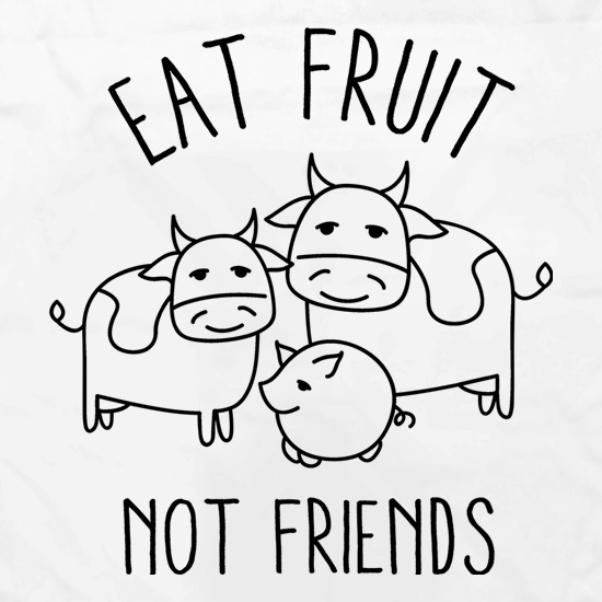 Eat Fruit Not Friends Apron