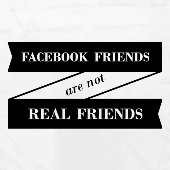 Facebook Friends Are Not Real Friends Apron