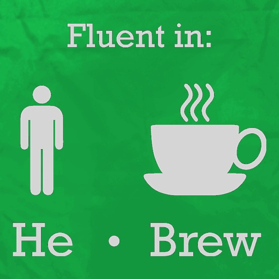 Fluent In He Brew Apron