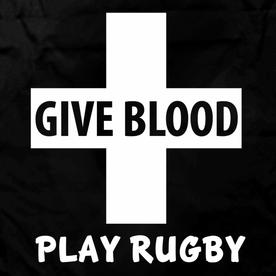 Give Blood. Play Rugby. Apron