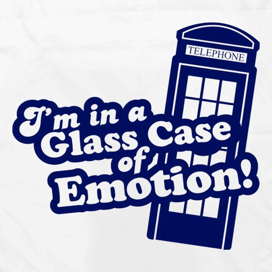 I'm In A Glass Case Of Emotion! Apron