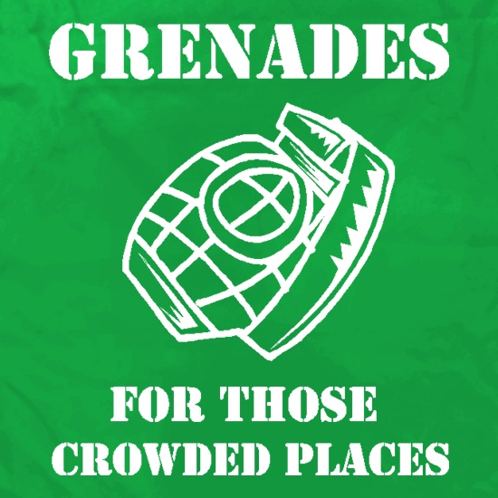 Grenades for those crowded places Apron