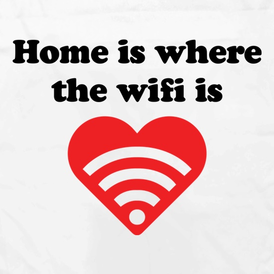 Home Is Where The Wifi Is Apron