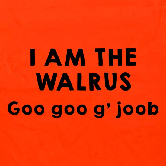 I Am The Walrus Apron