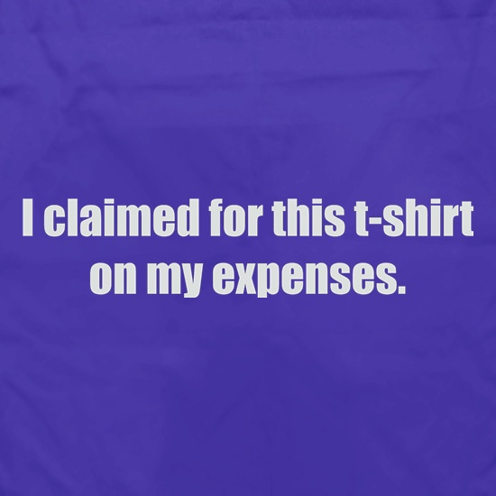 I Claimed For This T-Shirt On My Expenses Apron