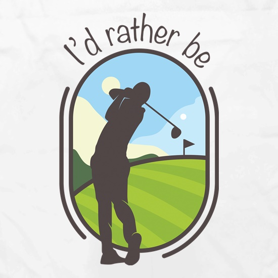 I'd Rather Be Golfing Apron