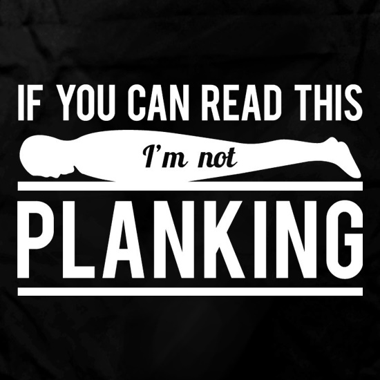 If You Can Read This I'm Not Planking Apron